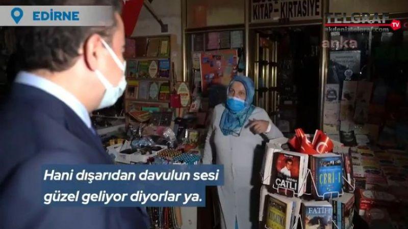 Esnaf'tan Babacan'a: Dün ben 3 lirayla kapadım. 3 bin lira değil, 3 lira...