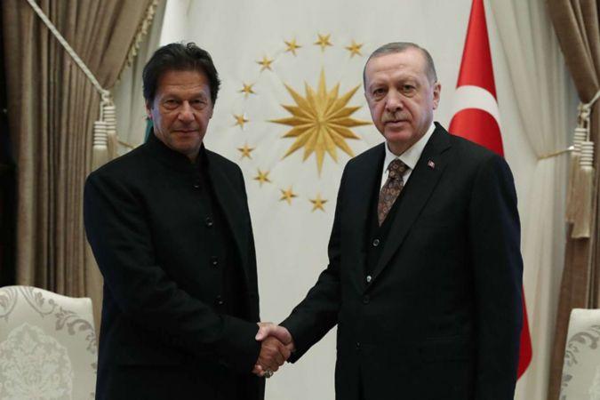 Cumhurbaşkanı Erdoğan ile  Pakistan Başbakanı İmran Han Kudüs'ü görüştü
