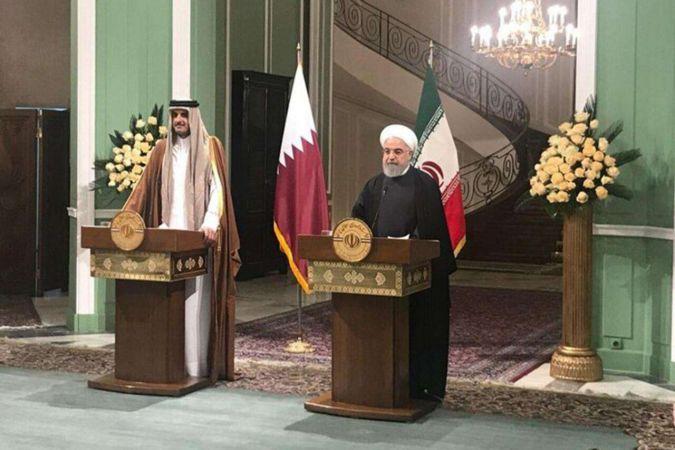 Ruhani, Katar Emiri El-Sani ile Filistin'i görüştü