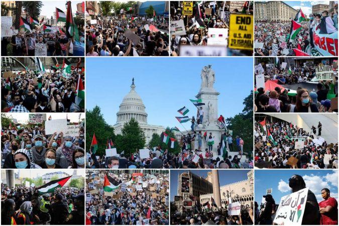 Dünyadan Filistin'e destek gösterileri