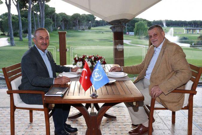 Dışişleri Bakanı Çavuşoğlu BM Libya Özel Temsilcisi ile görüştü