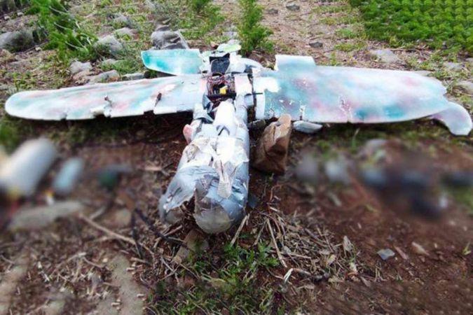 Fırat Kalkanı üs bölgesine fırlatılan maket uçak düşürüldü