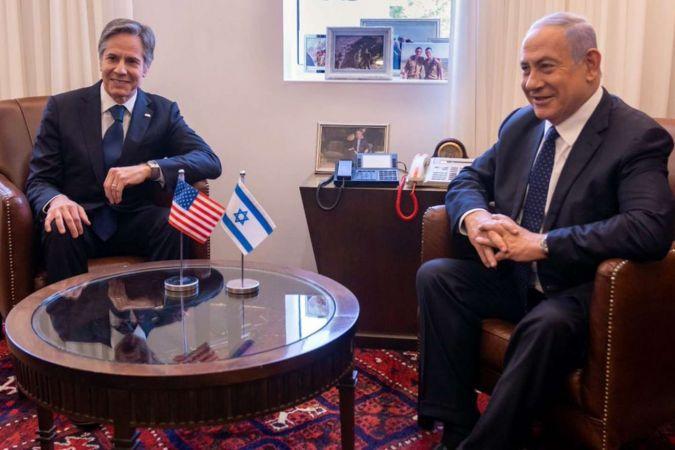Siyonist hamisi ABD Dışişleri Bakanı Blinken işgal rejimini savundu