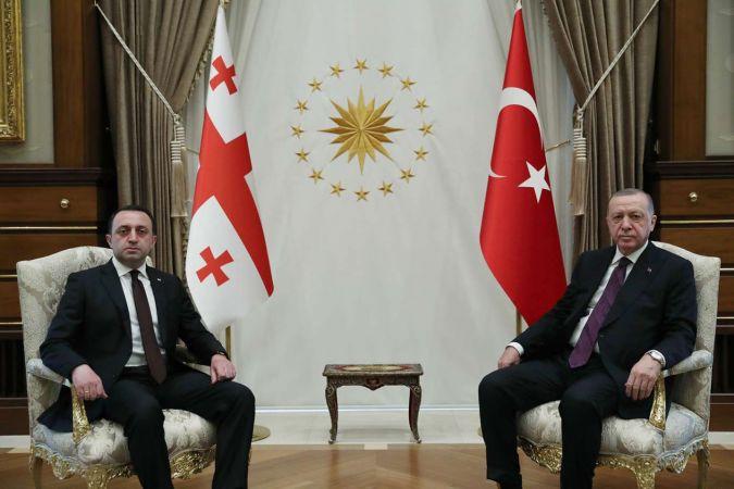 """Cumhurbaşkanı Erdoğan: """"Türkiye son 14 yılda Gürcistan'ın en büyük ticaret ortağı"""""""