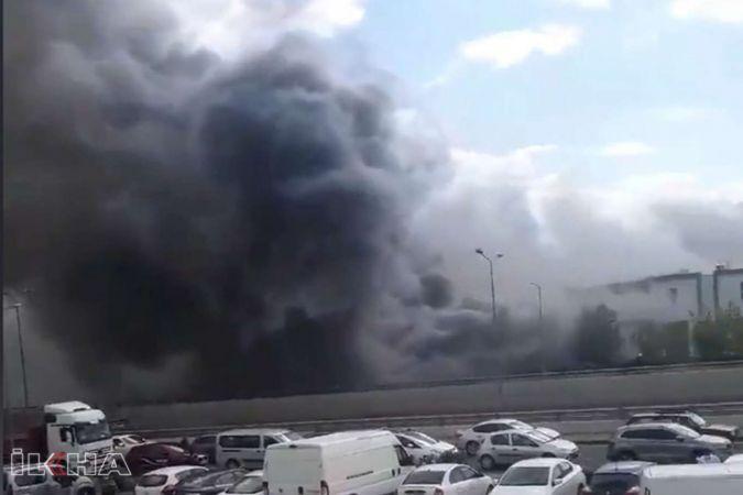Ankara'da kimyasal fabrikasında yangın