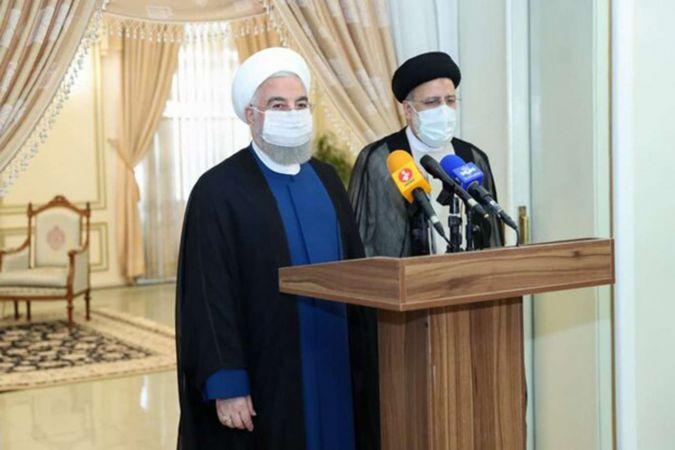 İran Cumhurbaşkanı Ruhani Ayetullah Reisi'yi makamında ziyaret etti