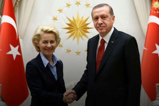 Cumhurbaşkanı Erdoğan, AB Komisyonu Başkanı von der Leyen ile telefonda görüştü