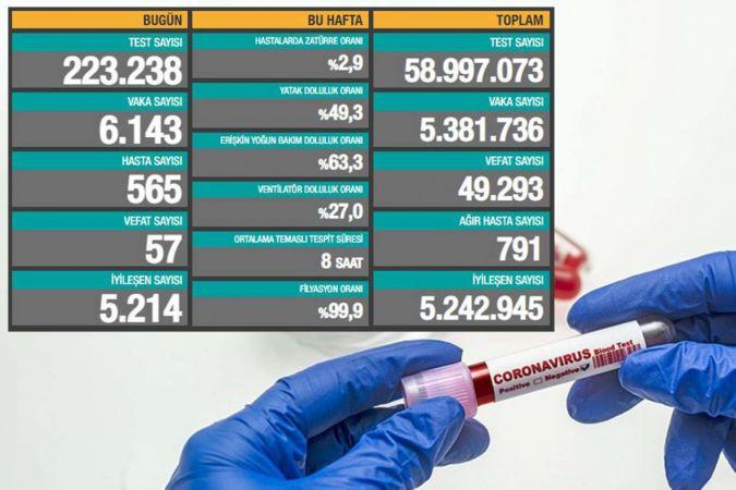 Türkiye'de Coronavirus: Son 24 saatte 55 can kaybı, 6 bin 143 yeni vaka