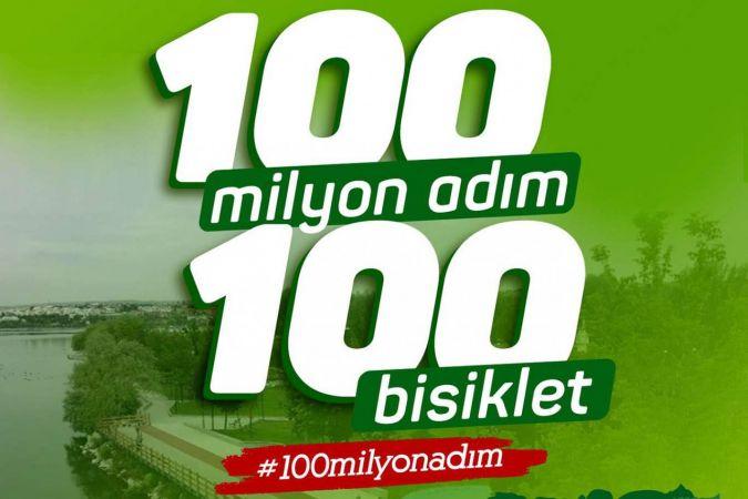 """100 Milyon Adım 100 Bisiklet"" projesi"