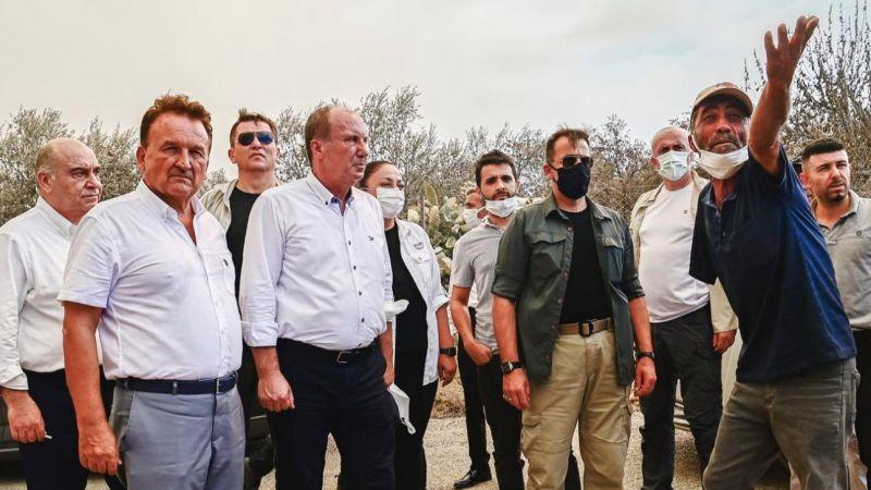 Muharrem İnce, Antalya'da yangın bölgelerinde incelemelerde bulundu