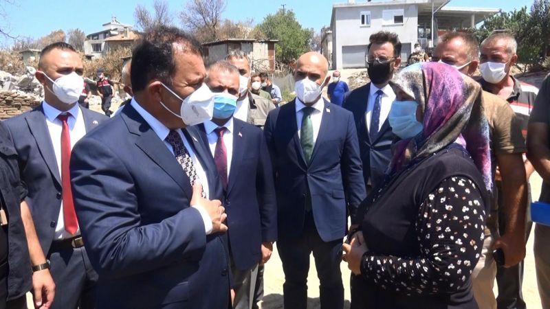 KKTC Başbakanı Saner: Yangın söndürülmesinde bir su damlası bile katkımız olduysa ne mutlu