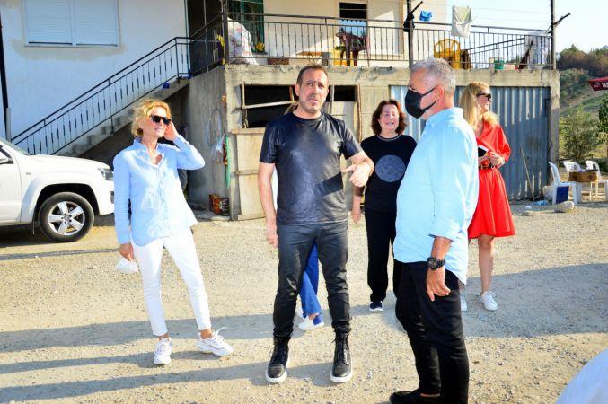 Haluk Levent, yangın mağduru Manavgatlıları ziyaret edip, beyaz eşya sözü verdi