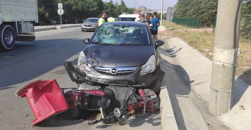 Burdur'da trafik kazası: 1 yaralı