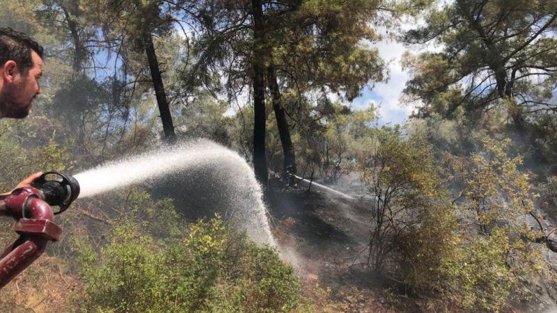 Demre Beymelek'te çıkan orman yangın söndürüldü