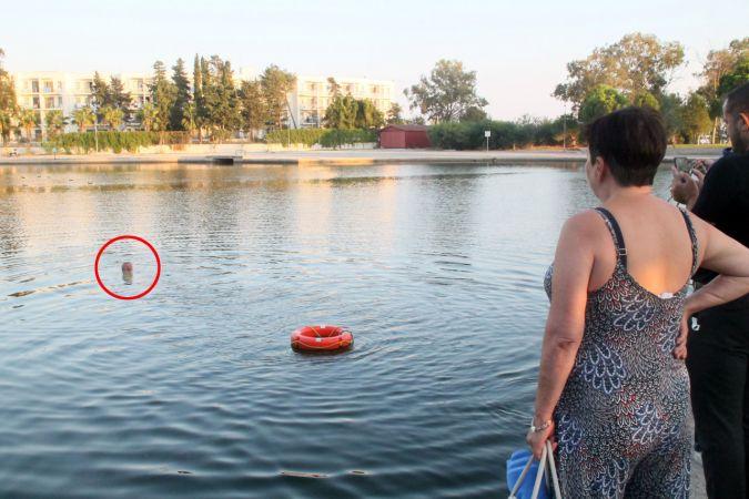 Titreyengöl'e giren Rus turist zor çıkarıldı