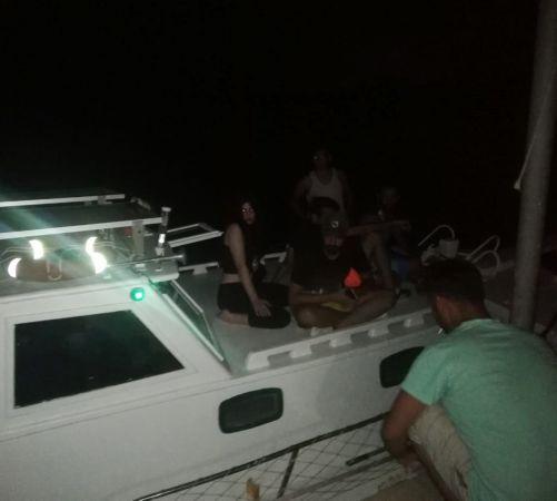 Teknede 13 İranlı kaçak göçmen yakalandı
