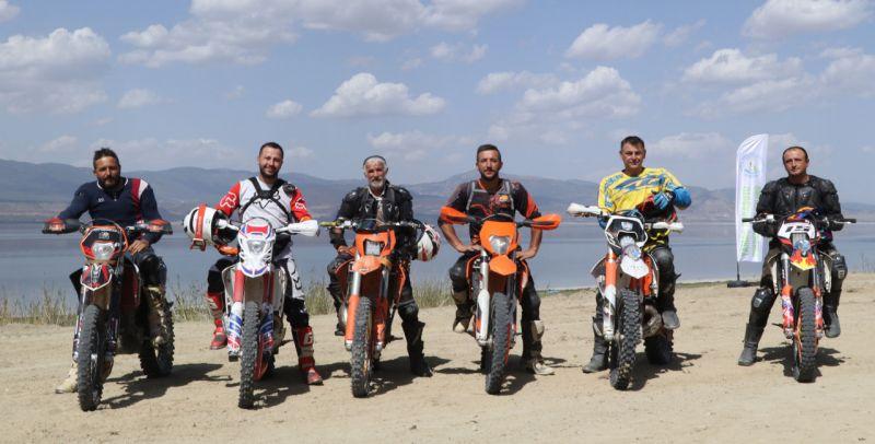Burdur'da enduro motosiklet sporcularından pist isteği