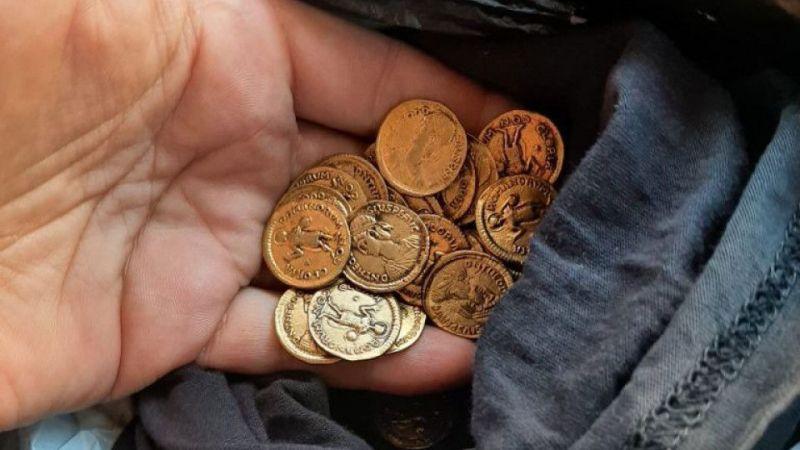 Roma dönemine ait sikkeler ele geçirildi