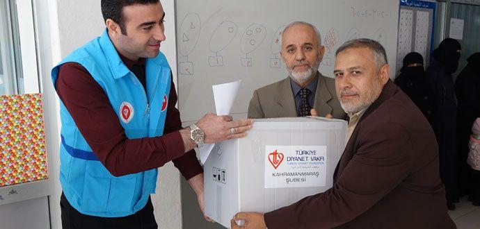 Diyanet Vakfının Şefkat Eli Suriyelilere Uzandı
