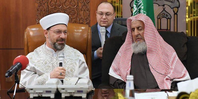 Başkan Erbaş'tan Başmüftü Abdulaziz'e Ziyaret