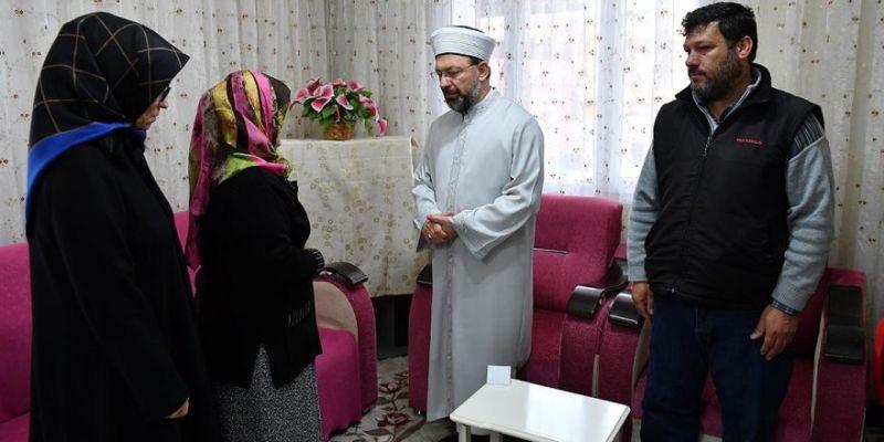 Diyanet'ten Şehit Fatma Avlar'ın Evine Ziyaret