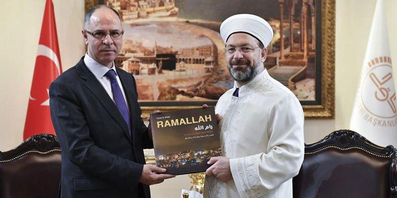 Filistin Ankara Büyükelçisi Diyanet'te