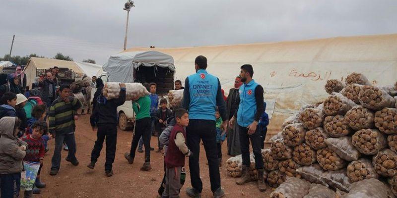 Diyanet Vakfı'ndan İdlib Halkına Yardım