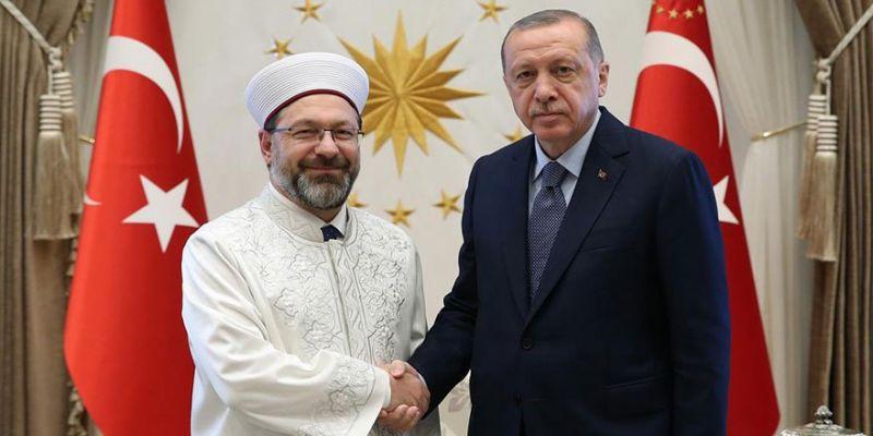 Cumhurbaşkanı Erdoğan Erbaş'ı Kabul Etti