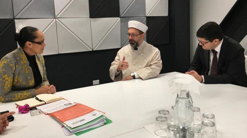 Erbaş'ın Yeni Zelanda'da Temasları Sürüyor