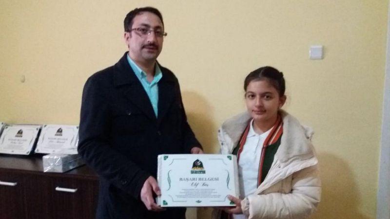 Erzincan'da Siyer Sınavı Ödülleri Verildi