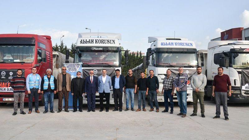 Kardeşlik Tırları Konya'dan Yola Çıktı