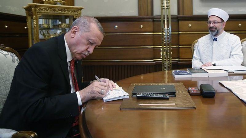 Cumhurbaşkanı Erdoğan'dan TDV'ye kurban bağışı