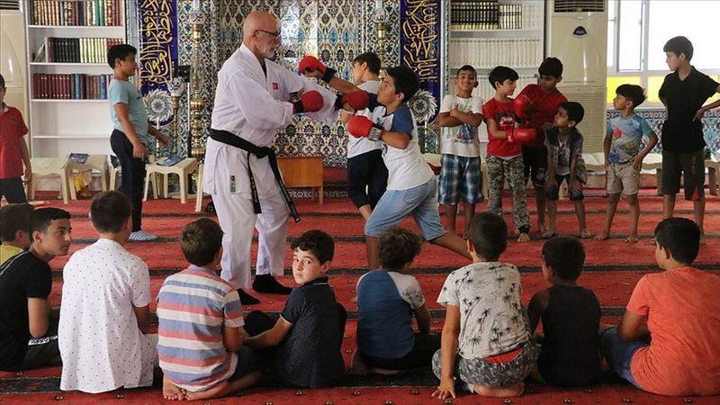 Yaz Kur'an Kursunda karate eğitimi
