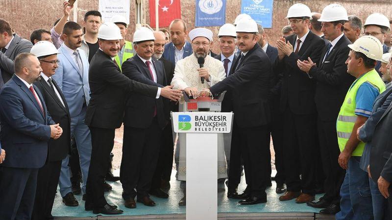 Bandırma Onyedi Eylül Üniversitesi Camii'nin temeli atıldı