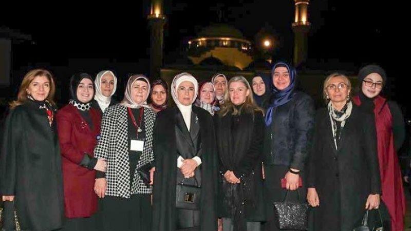 Emine Erdoğan Amerika Diyanet Merkezini ziyaret etti