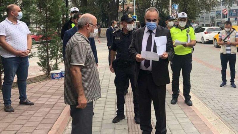 Sakarya'da maske takmayanlara karantina cezası