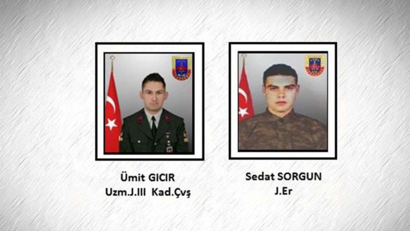 Gara'da şehit edilen 2 askerin daha kimliği tespit edildi