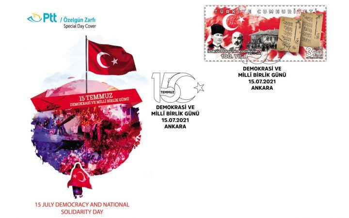 PTT'den 15 Temmuz'a özel zarf  ve damga