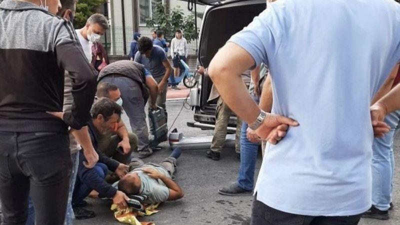 Serdivan'da, otobüs ile kamyonet çarpıştı