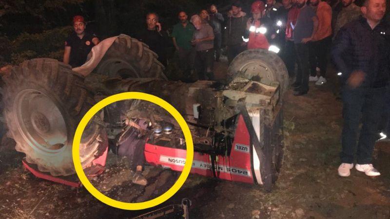 Traktörün altında sıkışarak can verdi!