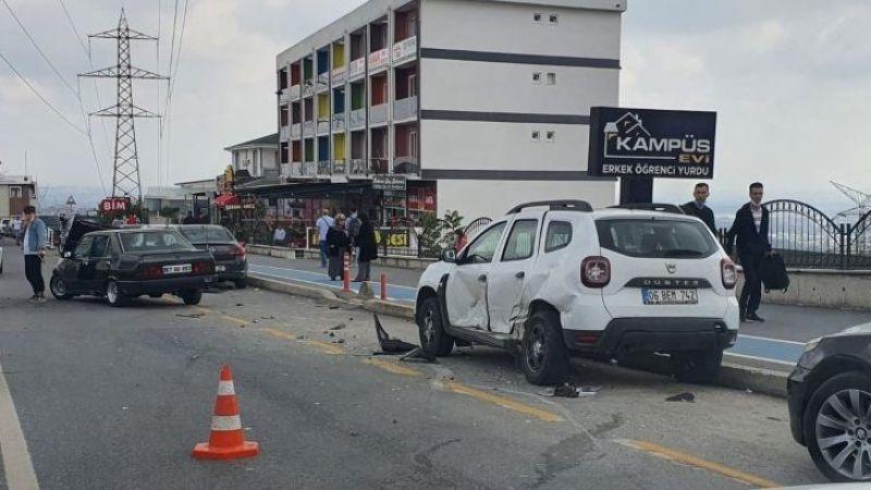 SAÜ Kampüs yolunda kaza