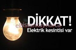 Elektrikler kesintisi var