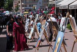 Uzun Çarşı'da resim sergisi