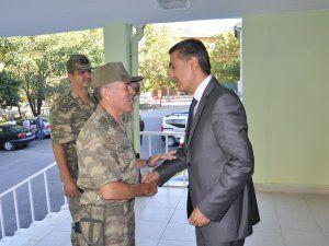 Tuğgeneral Şahin'den Kaymakam Akkoyun'a ziyaret