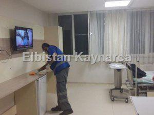 Çevre Koruma ekipleri, hastane temizliği yaptı