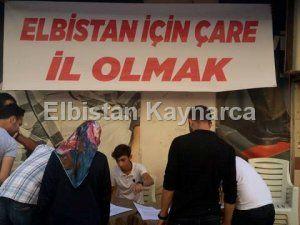 CHP'den, Elbistan'ın il olması için imza kampanyası
