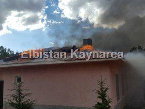 Yangın, sağlık evini küle çevirdi