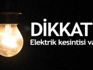 1 ve 3 Ekim'de elektrik kesintisi yapılacak