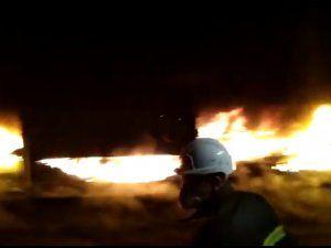 B Termik'te bant yolunda yangın paniği