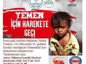 Gençlik Merkezi'nden Yemen'e yardım eli